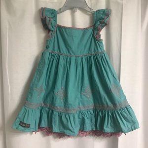 Matilda Jane Dresses - Matilda Jane Teal and Pink Dress, Size 2